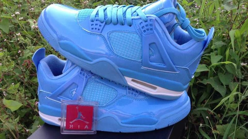 Real Jordan 4 Retro All Blue Shoes