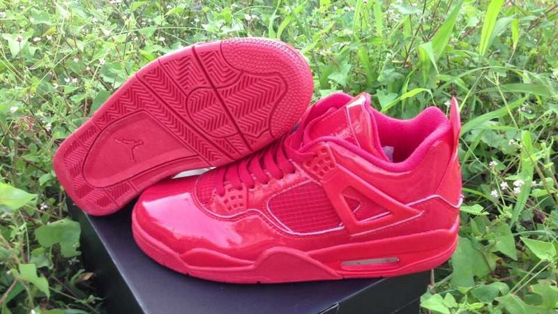 Real Jordan 4 Retro All Red Shoes