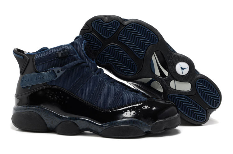 New Six Rings Shoes Dark Blue Black