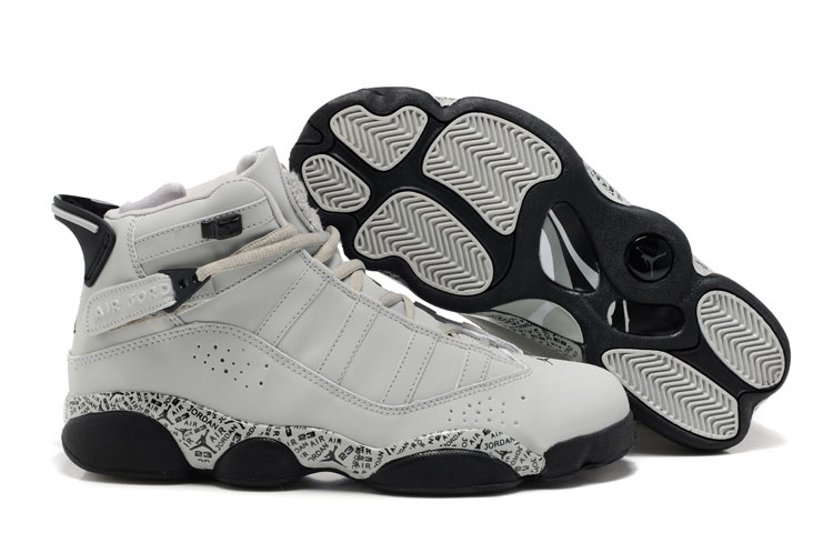 New Six Rings Shoes White Cement Black