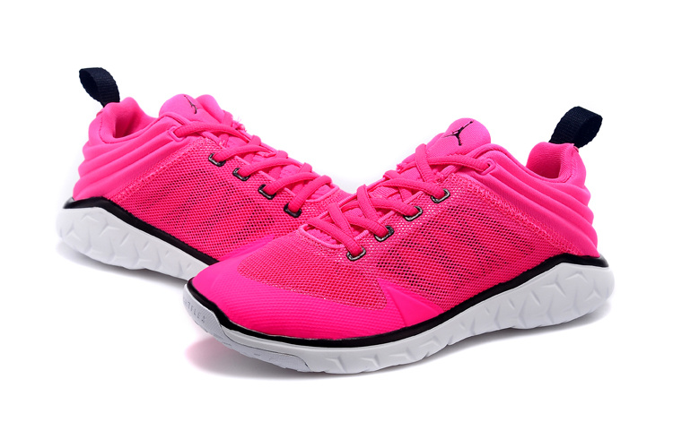 Cheap 2015 Women Jordan Running Shoes Pink Black White