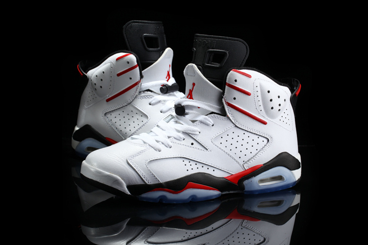Real Jordan 6 Retro White Red Black