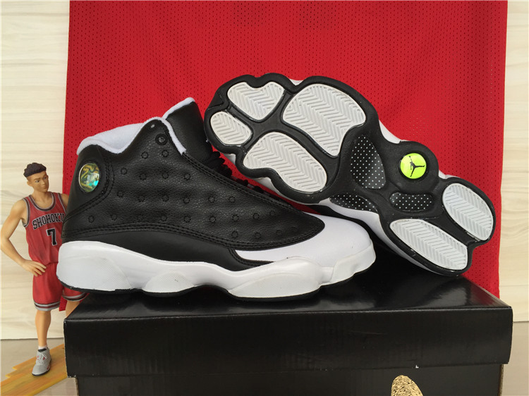 Real Jordan 13 Retro Oreo Black White Shoes