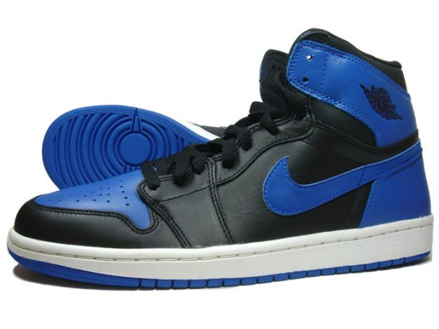 Cheap Air Jordan 1 Shoes Black Royal Blue
