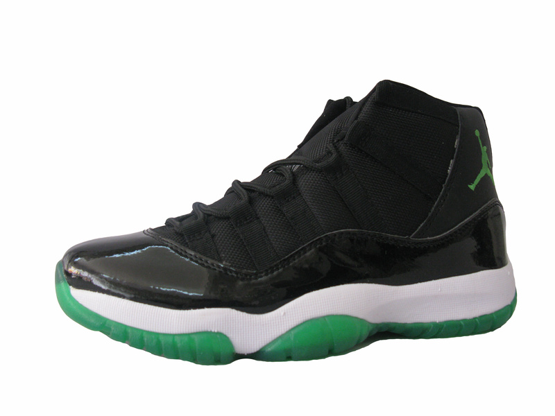Cheap Air Jordan Shoes Retro 11 Black White Green