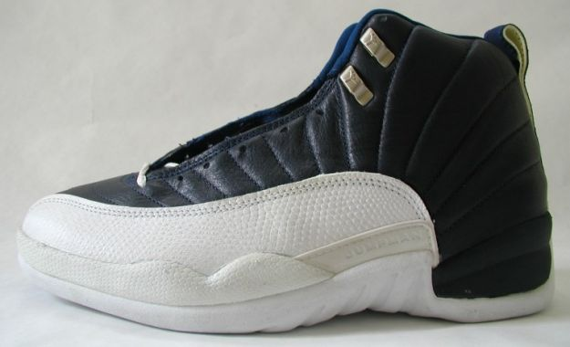 Cheap Air Jordan Shoes 12 Original Obsidian obsidian white french blue
