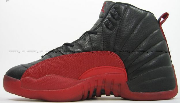 Cheap Air Jordan Shoes 12 Original Playoffs Black Varsity Red