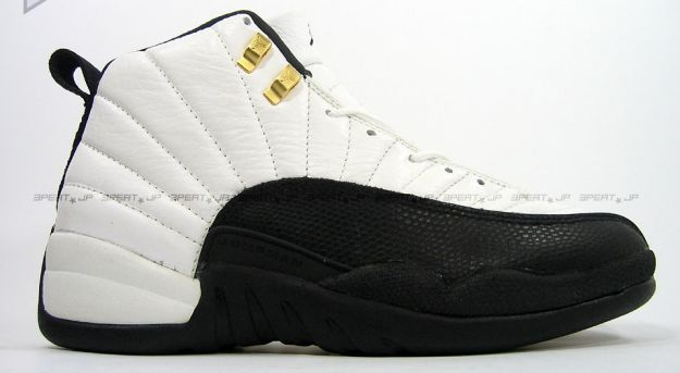 Cheap Air Jordan Shoes 12 Original Taxi White Black
