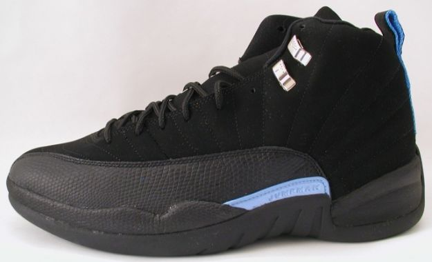 Cheap Air Jordan Shoes 12 Retro Nubucks Unc Black University Blue