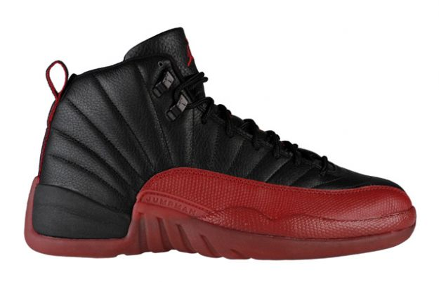 Cheap Air Jordan Shoes 12 Retro Playoffs Black Varsity Red