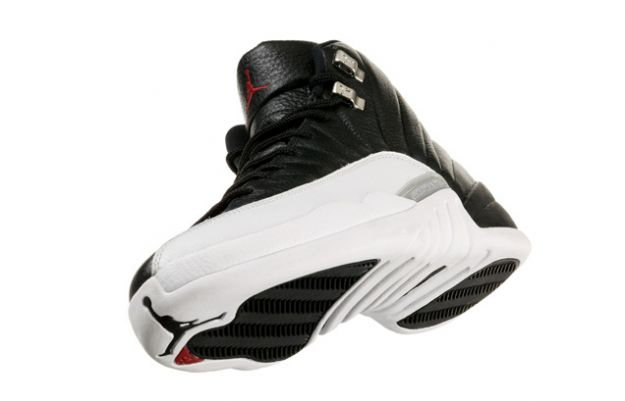 Cheap Air Jordan Shoes 12 Retro Playoffs Black White Varsity Red