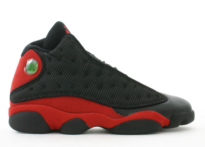Cheap Air Jordan Shoes 13 Retro Black Rrue Red