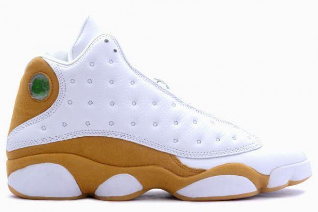 Cheap Air Jordan Shoes 13 Retro Wheats White