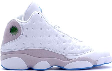 Cheap Air Jordan Shoes 13 Retro White Grey University Blue