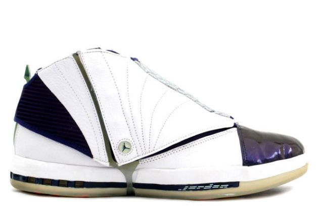 Cheap Air Jordan Shoes 16 Original White Metallic Navy 34 High