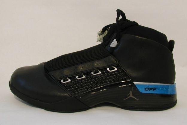 Cheap Air Jordan Shoes 17 Original Black Metallic Silver