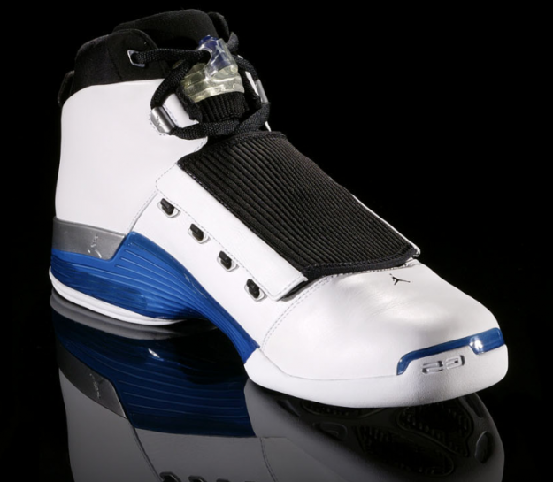 Cheap Air Jordan Shoes 17 Original White Vollege Blue Black
