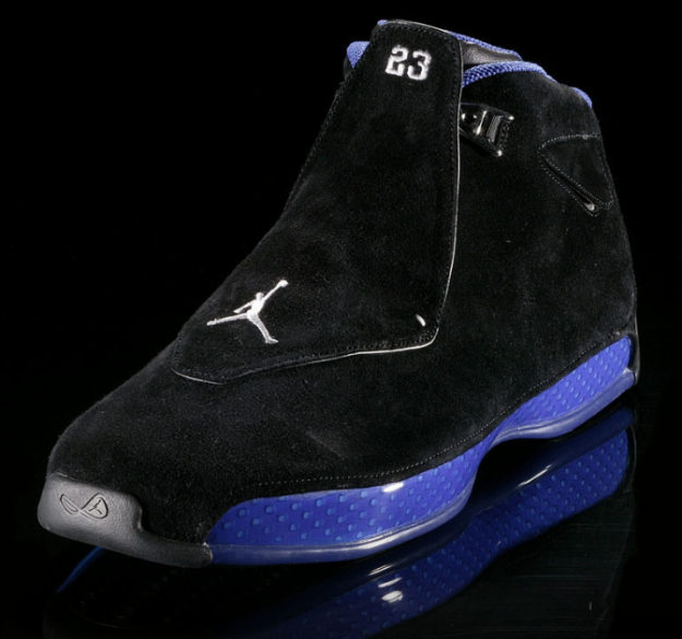 Cheap Air Jordan Shoes 18 Original Black Royal Blue