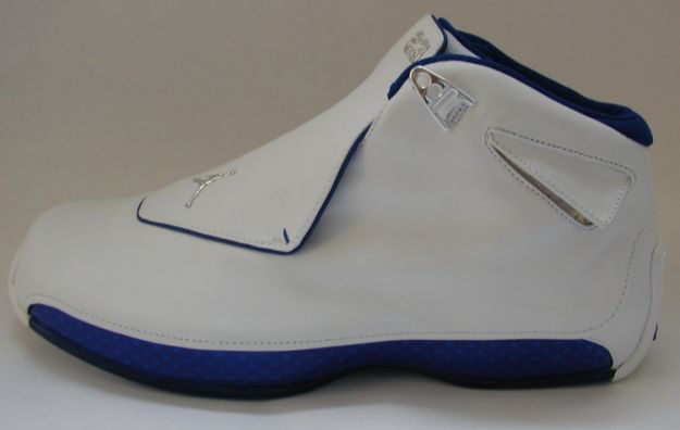 Cheap Air Jordan Shoes 18 Original White Metallic Silver Sport Royal