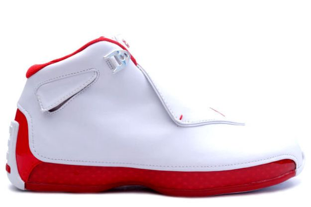 Cheap Air Jordan Shoes 18 Original White Varsity Red