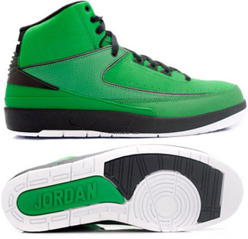 Cheap Air Jordan 2 Shoes Green Chrome