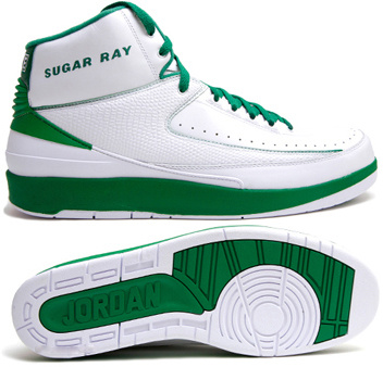 Cheap Air Jordan 2 Shoes White Green Chrome