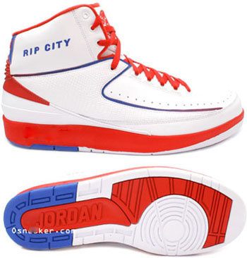 Cheap Air Jordan 2 Shoes White Red Blue Chrome