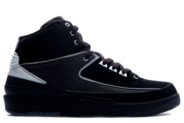 Cheap Air Jordan 2 Shoes Retro Black Chrome