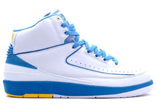 Cheap Air Jordan 2 Shoes Retro Carmello Anthony Melo White University Blue Varisty Maize