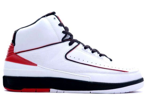 Cheap Air Jordan 2 Shoes Retro White Varsity Red Black