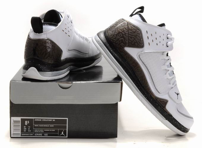 Cheap Air Jordan 2011 XXVI Retro White Black Shoes