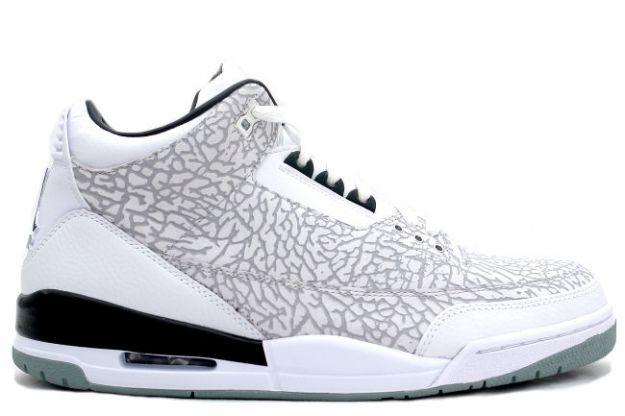 Cheap Air Jordan Shoes 3 Retro Flip white Chrome Black
