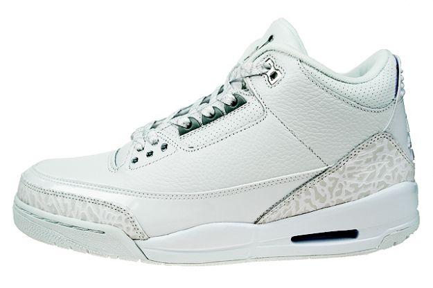 Cheap Air Jordan Shoes 3 Retro Pure Money White Metallic Silver