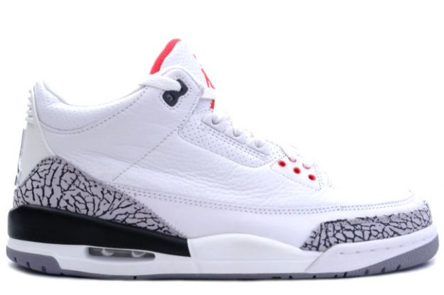 Cheap Air Jordan Shoes 3 Retro White Cement Grey Fire Red