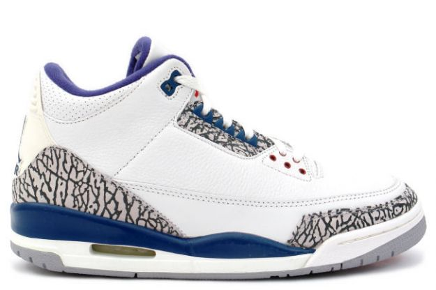 Cheap Air Jordan Shoes 3 Retro White True Blue