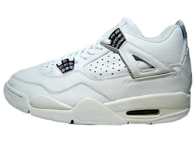 Cheap Air Jordan Shoes 4 Retro 2000 White Wgite Chrome