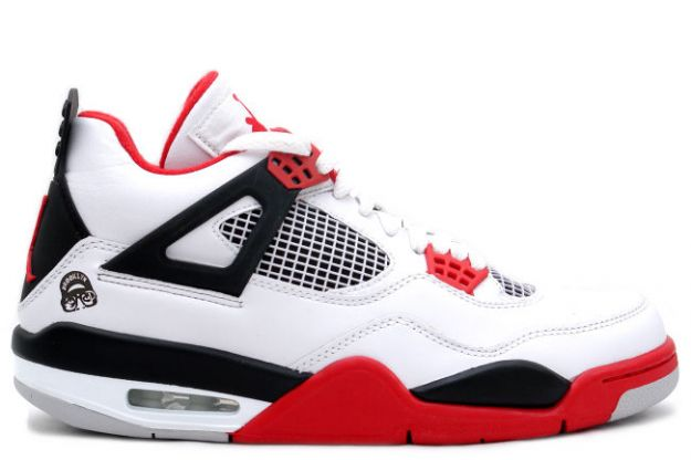 Cheap Air Jordan Shoes 4 Retro Mars Blackmon White Varsity Red Black