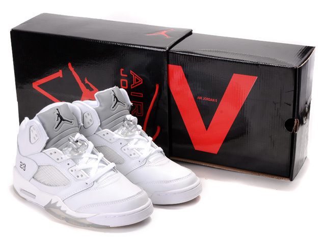 Cheap Air Jordan Shoes 5 Retro Hardcover Box All White