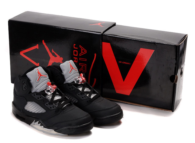 Cheap Air Jordan Shoes 5 Retro Hardcover Box Black White Red