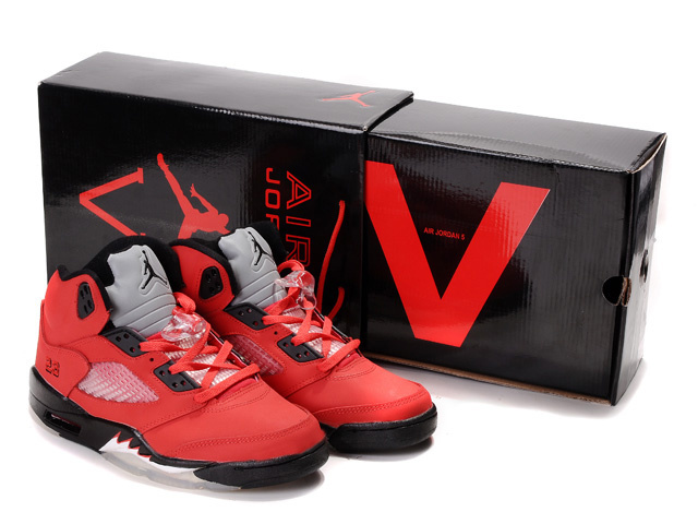 Cheap Air Jordan Shoes 5 Retro Hardcover Box Red Black White