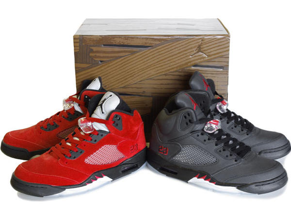 Cheap Air Jordan Shoes 5 Raging Bull Pack Varsity Red Black