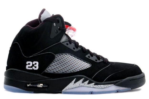 Cheap Air Jordan Shoes 5 Retro Black Black Metallic Silver