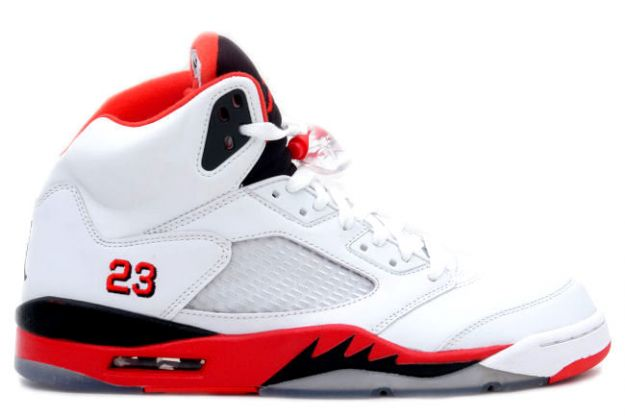 Cheap Air Jordan Shoes 5 Retro Fire Red White Fire Red Black