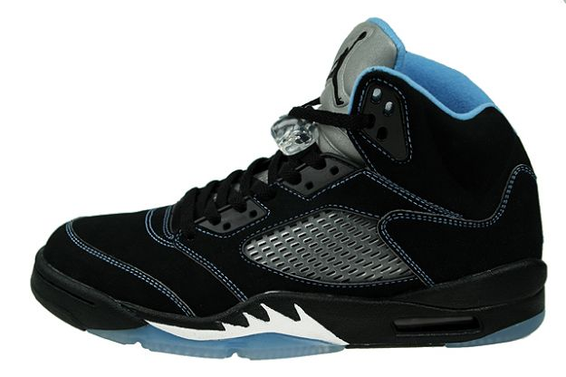 Cheap Air Jordan Shoes 5 Retro Black University Blue White