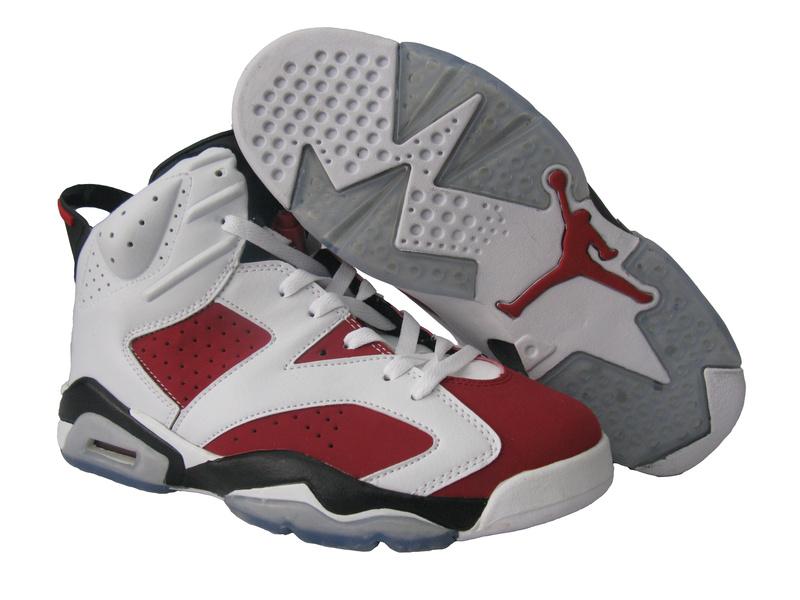Cheap Air Jordan Shoes 6 Retro White Red Black