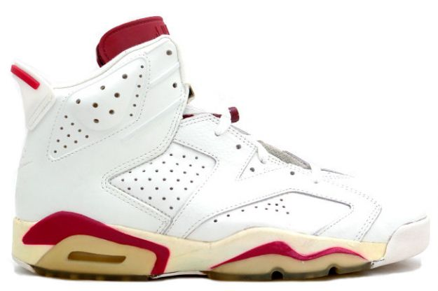 Cheap Air Jordan Shoes 6 Original Off White Maroon