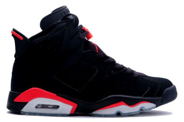 Cheap Air Jordan Shoes 6 Retro Black Deep Infrared