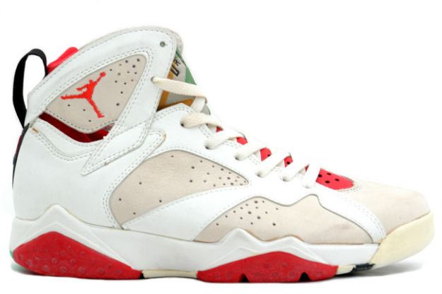 Cheap Air Jordan Shoes 7 Original Hare White Light Silver True Red