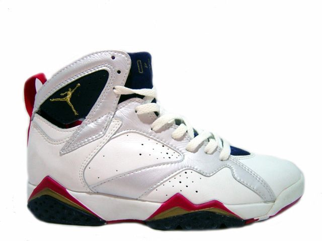 Cheap Air Jordan Shoes 7 Original Olympics White Midnight Navy True Red