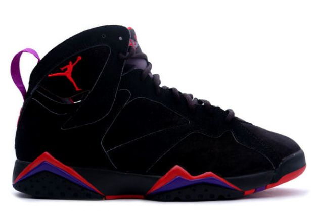 Cheap Air Jordan Shoes 7 Retro Black Dark Charcoal True Red
